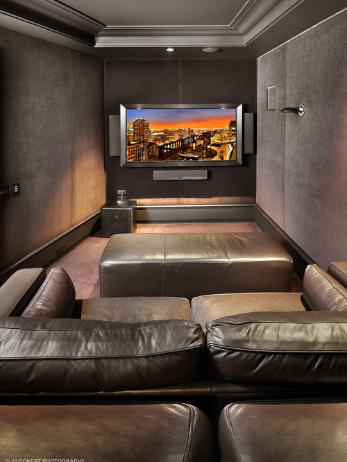 Modern Chicago Home Theater Design Ideas Remodels Photos Houzz