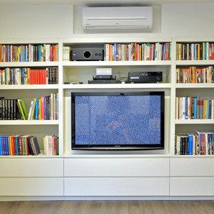 Inspiration for a modern home theater remodel in Tel Aviv