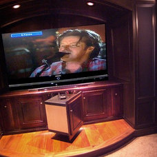 Traditional Home Theater by Tampa Bay Millworks & Home Design Center