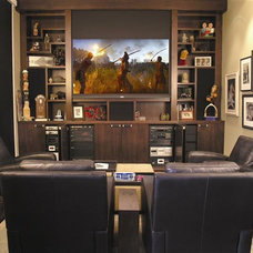 Contemporary Home Theater by My Designer Online