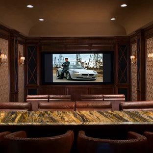Idée de décoration pour une salle de cinéma victorienne.