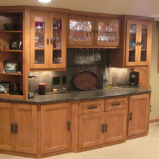 Traditional Home Theater by Old School Cabinets