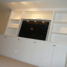Traditional Home Theater by Home Services Unlimited, LLC