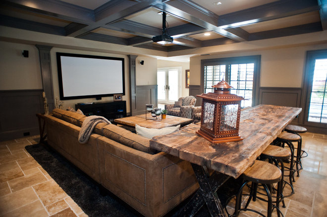 Traditional Home Theater by Distinctive Remodeling Solutions, Inc