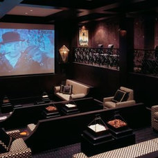 Traditional Home Theater by Mary Douglas Drysdale
