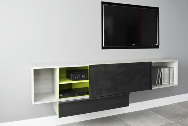 Contemporary Home Theater by Gepetto