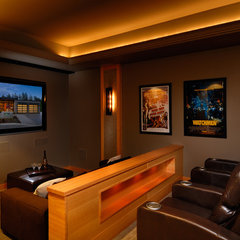 contemporary media room by Christopher Developments