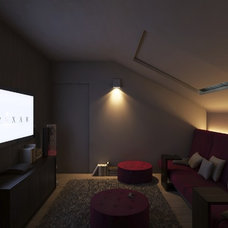 Contemporary Home Theater by Riva Cantù Tailor Made