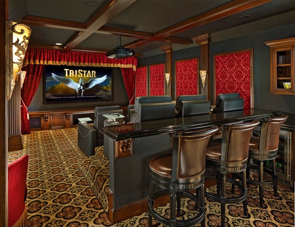 Traditional Home Theater by McHenry Construction Group, Inc.