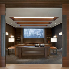 Contemporary Home Theater by Swaback Partners, pllc
