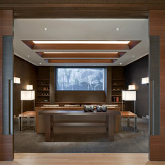 contemporary media room by Swaback Partners, pllc