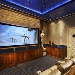 contemporary media room by Arnold Schulman Design Group