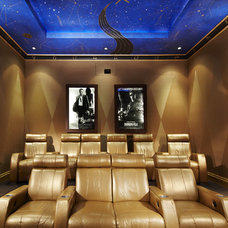 Contemporary Home Theater by Arnold Schulman Design Group
