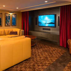 Modern Home Theater by White Space Architecture