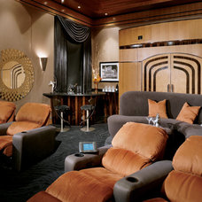 Contemporary Home Theater by Berni Greene, ASID, CID, IIDA