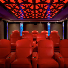 Contemporary Home Theater by Jablonski Associates