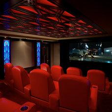 Modern Home Theater by Jablonski Associates