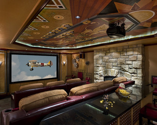 movie room houzz. Black Bedroom Furniture Sets. Home Design Ideas