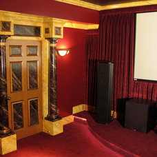 Eclectic Home Theater by Visionary Mural Co.