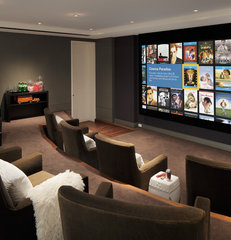 contemporary media room by arthurmclaughlin