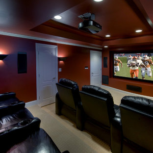 Ashburn Transitional Basement - Theatre Room