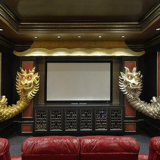 Asian Theme Custom Theater Room