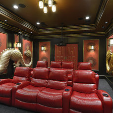 Asian Home Theater by Relative Home Systems