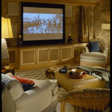 Traditional Home Theater by Robert Couturier