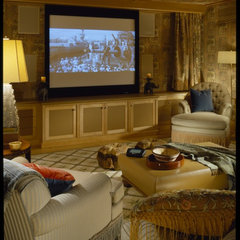traditional media room by Robert Couturier