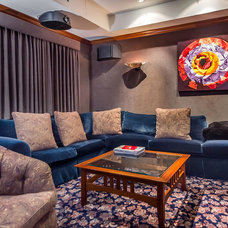 Contemporary Home Theater by mark pinkerton  - vi360 photography