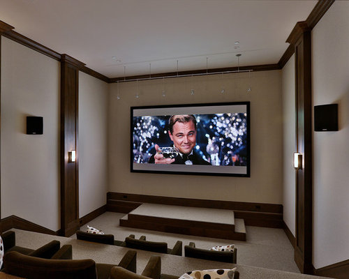 Home Theater   Transitional Home Theater Idea In San Francisco