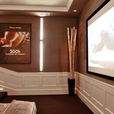 Contemporary Home Theater by moment design + productions, llc