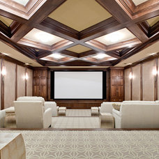 Home Theater by Fowler Interiors