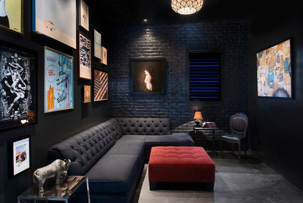 Contemporary Home Theatre by Cablik Enterprises