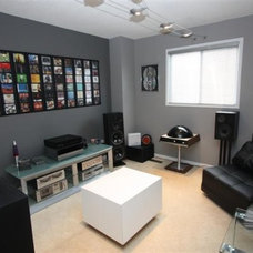 Contemporary Home Theater Audio Room