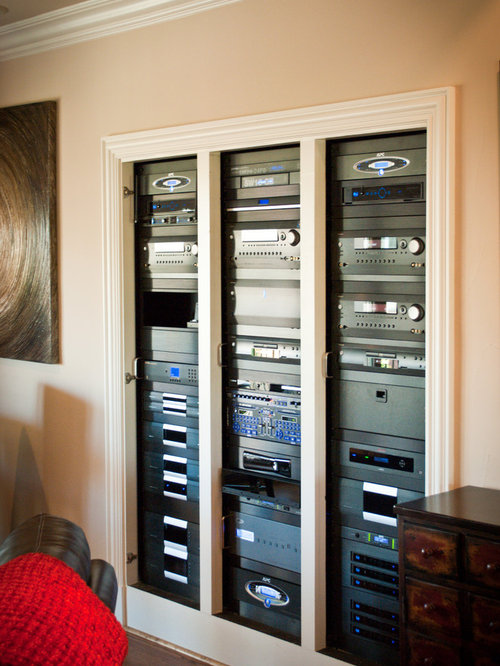 Example Of A Classic Home Theater Design In Dallas. Save Photo. Audio Video  Systems