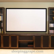 Contemporary Home Theater by Rollin Fox, Sleeping Grape Wine Cellars