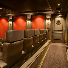 Transitional Home Theater by World Wide Stereo