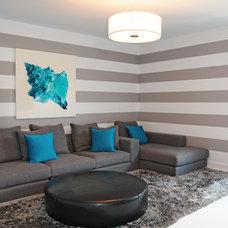 Modern Home Theater by Guimar Urbina | KIS Interior Design