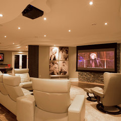 contemporary media room by Just Basements