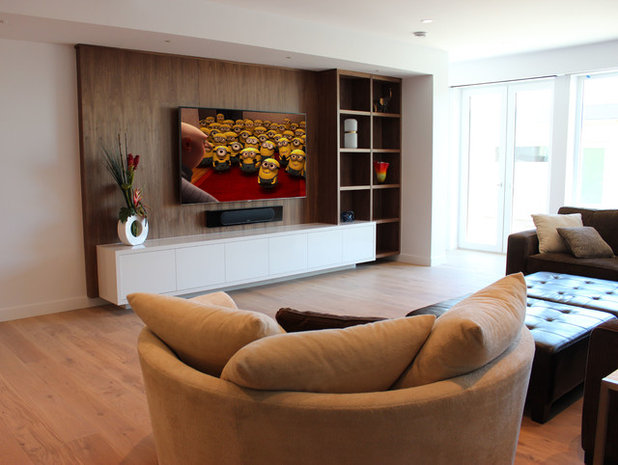 Contemporary Home Theater by smartSPACE - Home Theatre and Automation