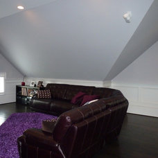 Modern Home Theater by Lacey Custom Carpentry