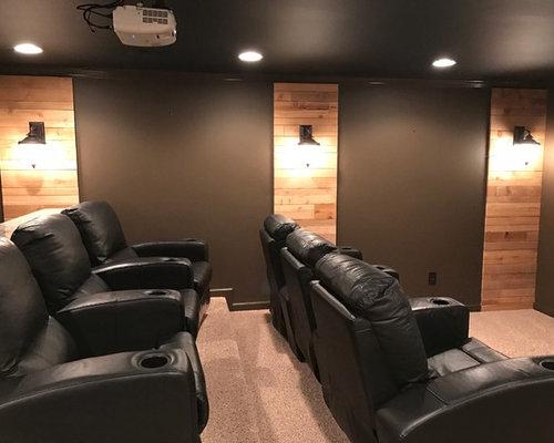 Industrial Home Theatre Design Ideas Renovations