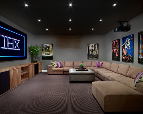 Edmonton home theater design ideas remodels photos houzz for Modern home decor edmonton