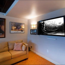 Contemporary Home Theater by The Sound Vision