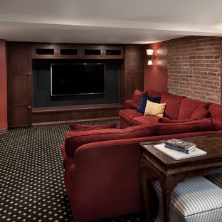 Basement Family Room and Entertainment Center