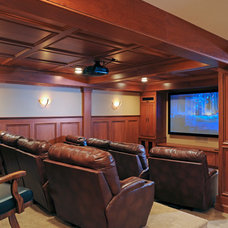 Transitional Home Theater by Greater Dayton Building & Remodeling