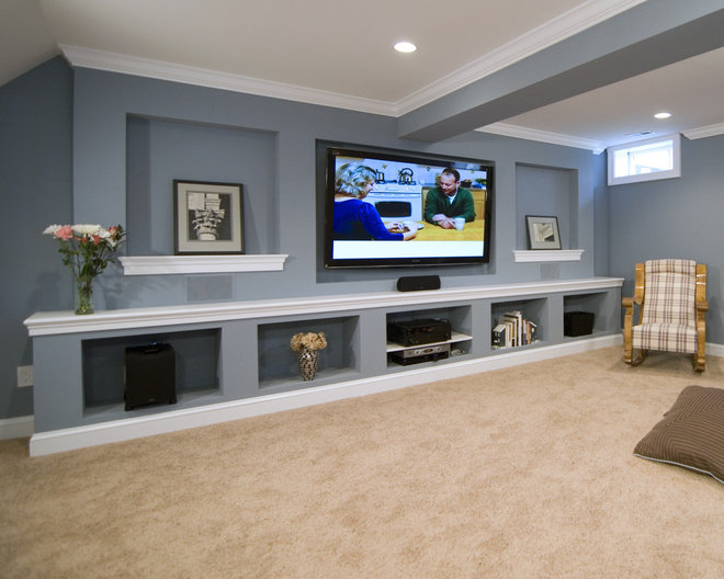 Traditional Home Theater by Summit Design Remodeling, LLC