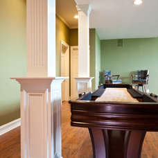 Traditional Home Theater by Case Design & Remodeling Indy