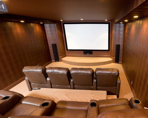 Https Www Houzz Com Basement Home Theater